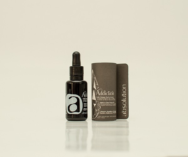 Addiction, l'huile visage unisexe Absolution Cosmetics